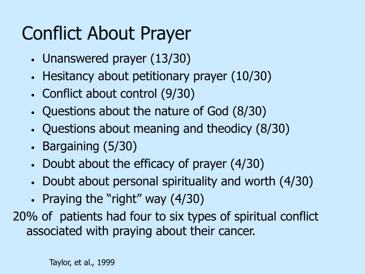 Conflict About Prayer