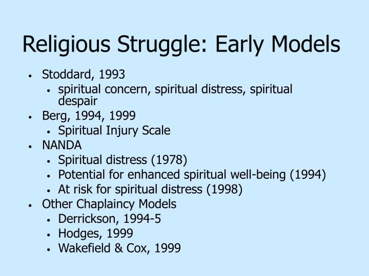 Religious Struggle: Early Models