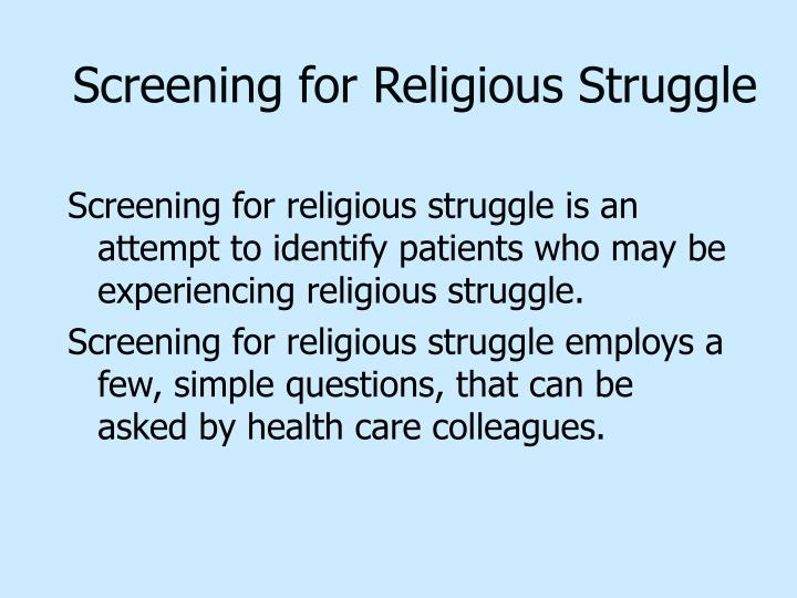 Screening for Religious Struggle