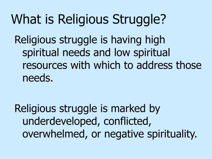 What is Religious Struggle?