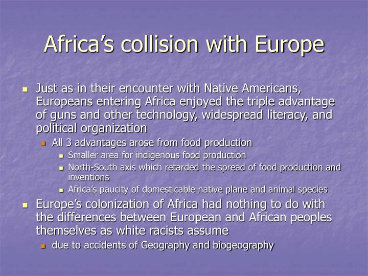 Africa's collision with Europe