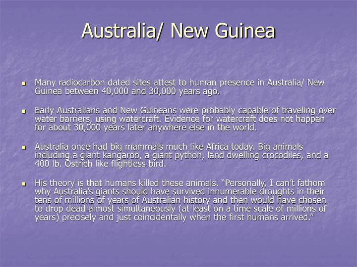 Australia/ New Guinea