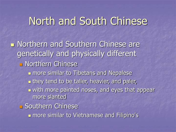 North and South Chinese