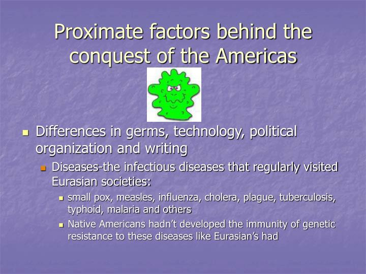 Proximate factors behind the conquest of the Americas