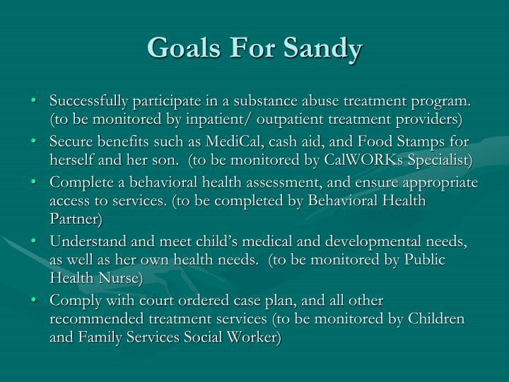 Goals For Sandy