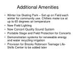 additional amenities