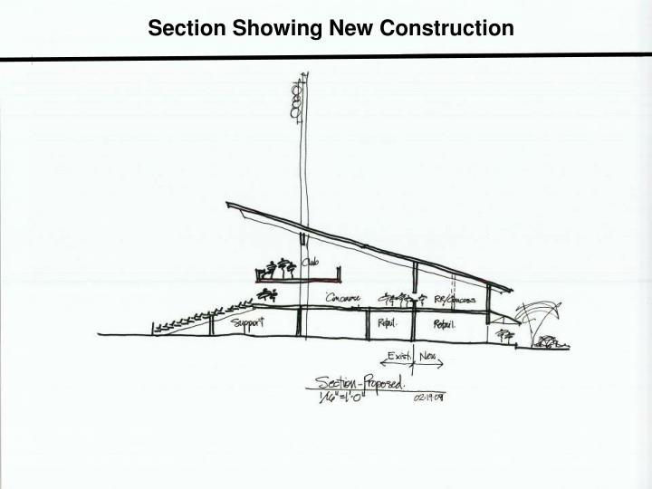 Section Showing New Construction
