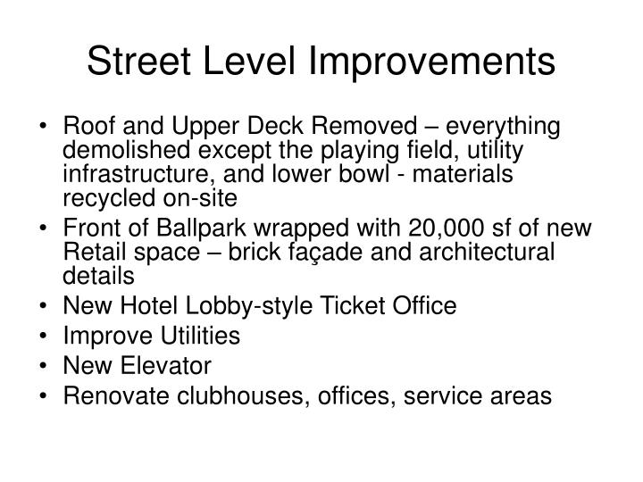 Street Level Improvements