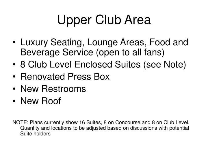 Upper Club Area