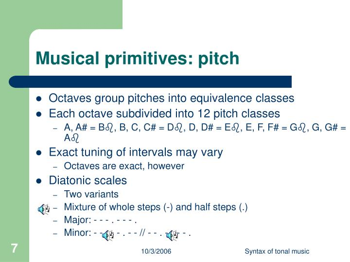 Musical primitives: pitch