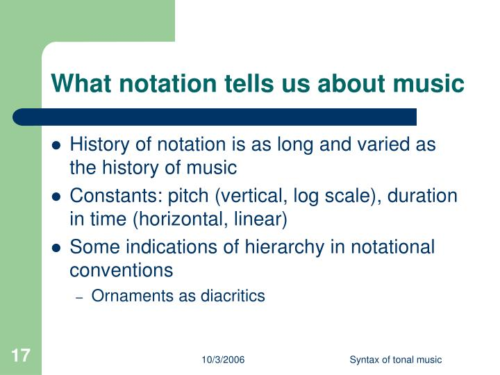 What notation tells us about music