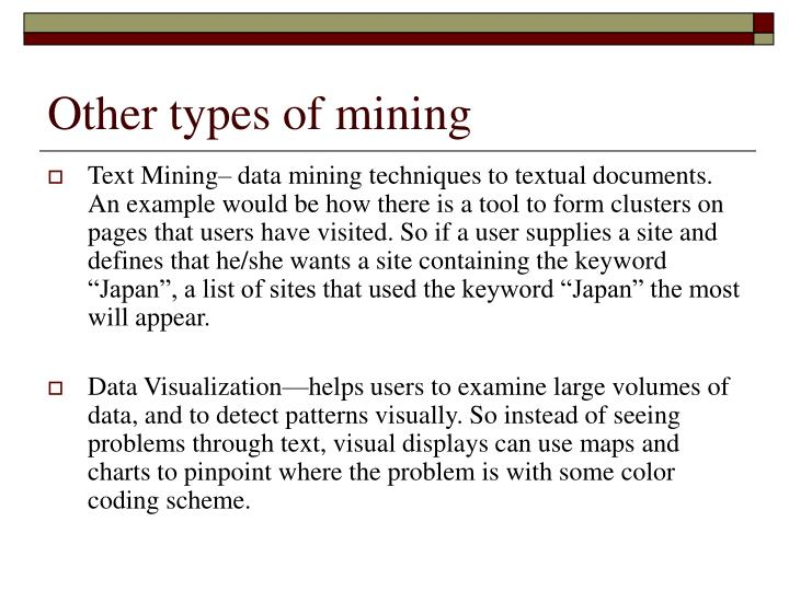 Other types of mining