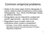 common empirical problems
