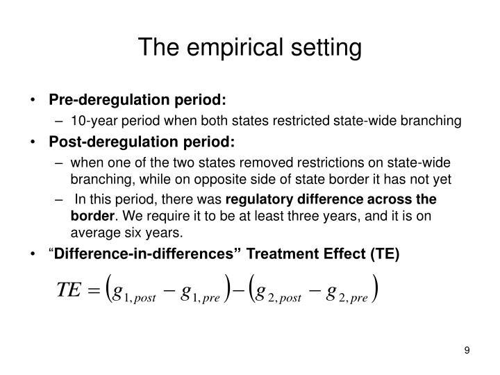 The empirical setting