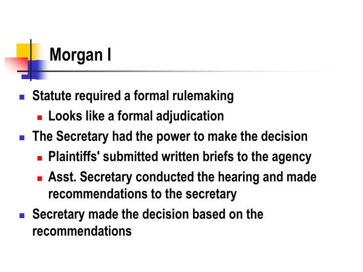 Morgan I
