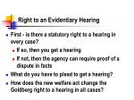 right to an evidentiary hearing