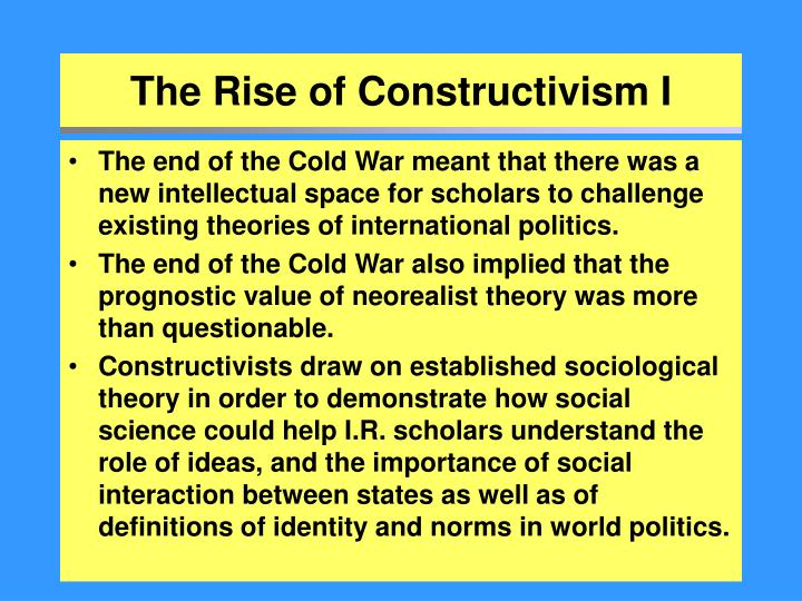 the relevance of the constructivist theory Constructivism is a philosophical viewpoint about the nature of knowledgespecifically, it represents an epistemological stance [1] there are many flavors of constructivism, but one prominent theorist known for his constructivist views is jean piaget, who focused on how humans make meaning in relation to the interaction between their experiences and their ideas.
