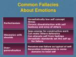 common fallacies about emotions