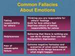 common fallacies about emotions1