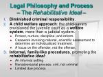 legal philosophy and process the rehabilitative ideal