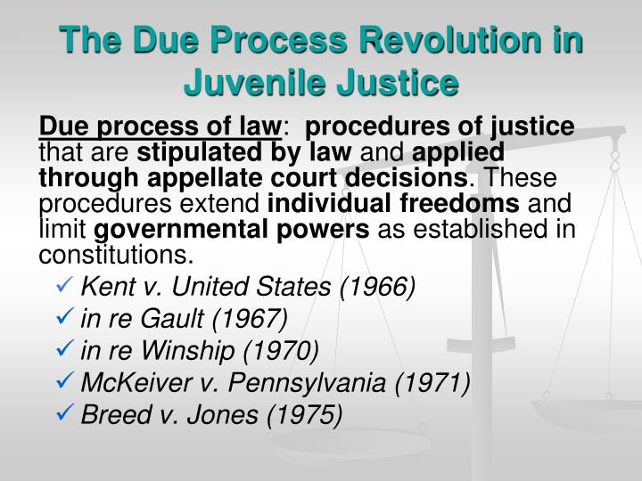 The Due Process Revolution in Juvenile Justice