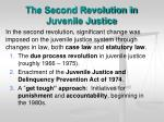 the second revolution in juvenile justice