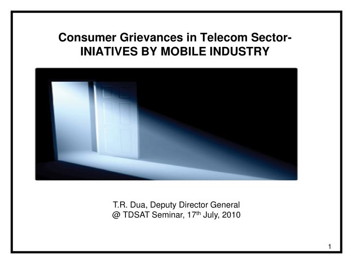 consumer grievances in telecom sector iniatives by mobile industry