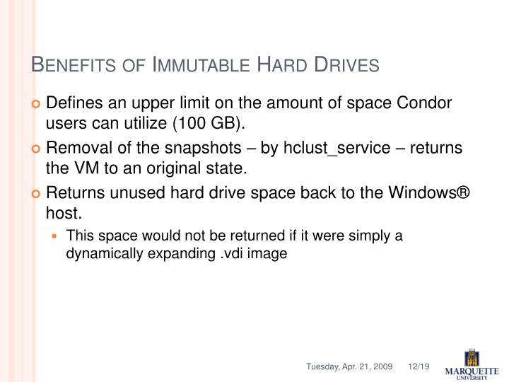 Benefits of Immutable Hard Drives
