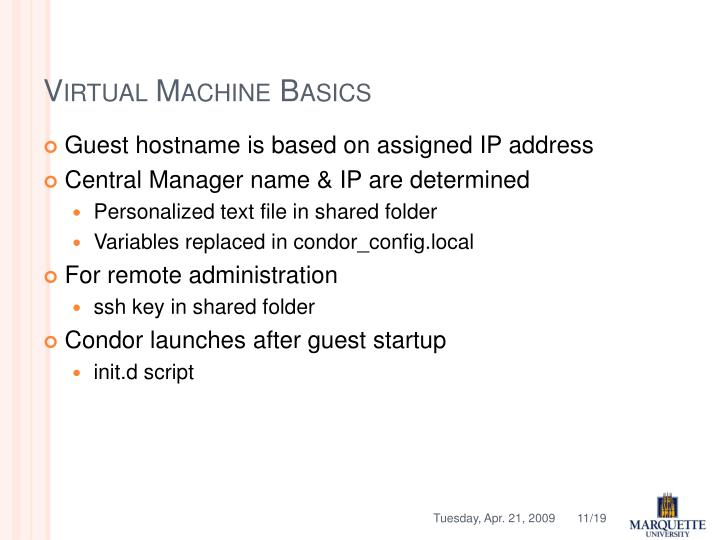 Virtual Machine Basics