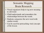 semantic mapping brain research