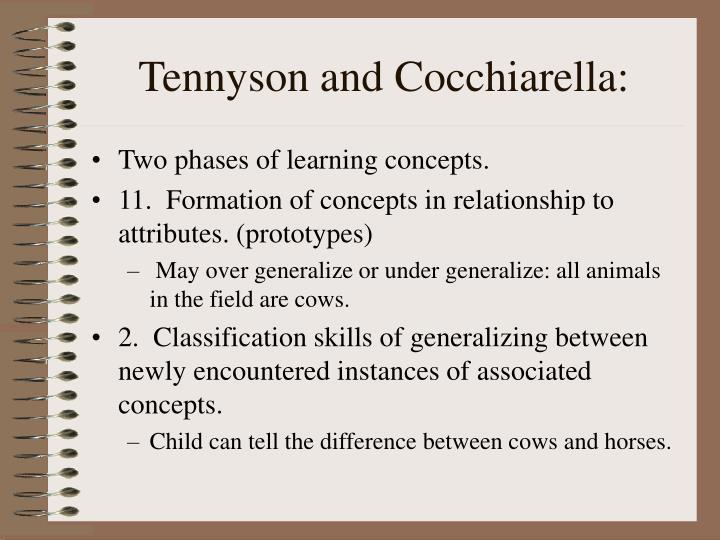 Tennyson and Cocchiarella: