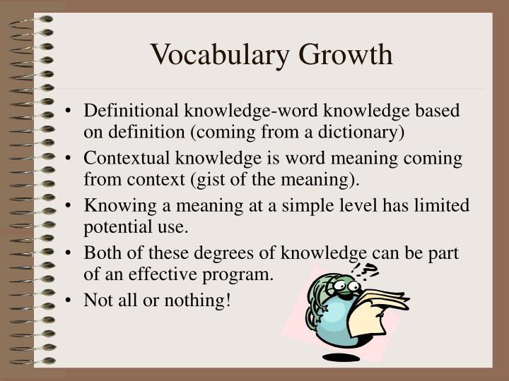 Vocabulary Growth