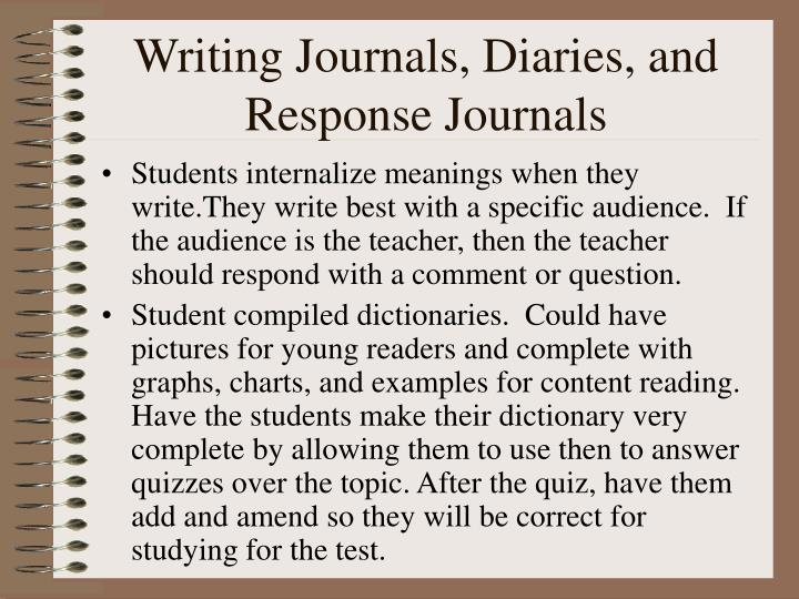 Writing Journals, Diaries, and Response Journals