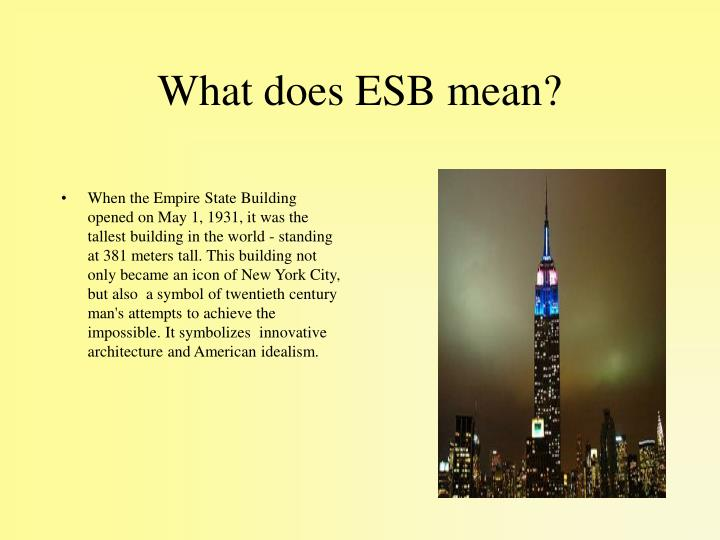 What does ESB mean?
