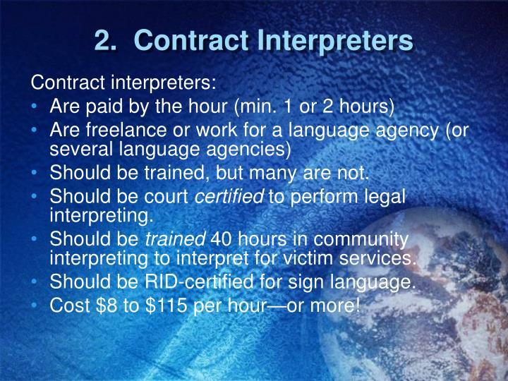 2.  Contract Interpreters