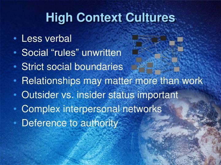 High Context Cultures