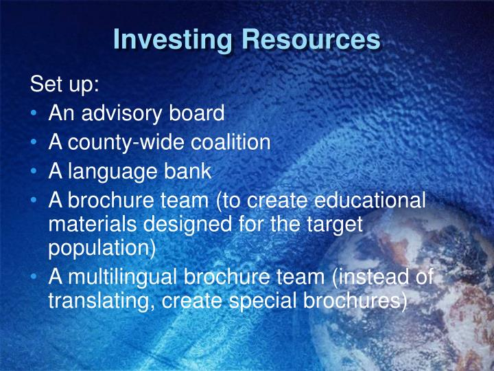 Investing Resources