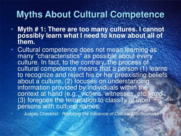 Myths About Cultural Competence