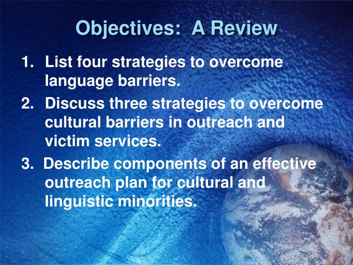 Objectives:  A Review