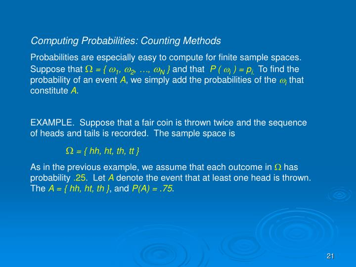 Computing Probabilities: Counting Methods