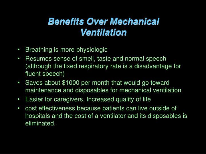 Benefits Over Mechanical