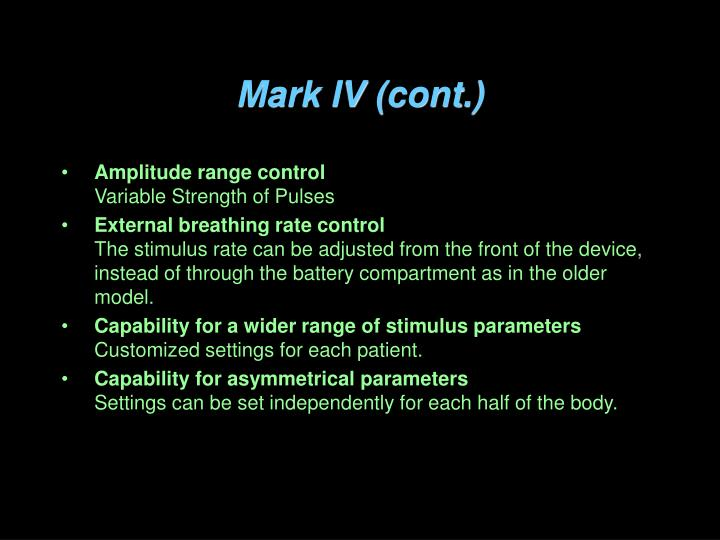 Mark IV (cont.)