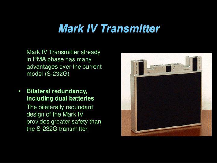 Mark IV Transmitter