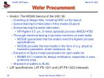 wafer procurement
