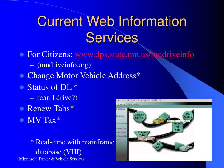 Current Web Information Services