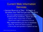 current web information services1