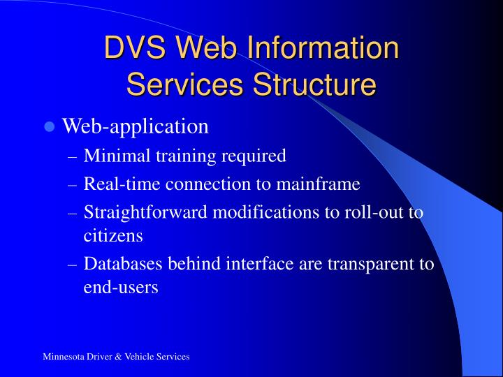 DVS Web Information Services Structure