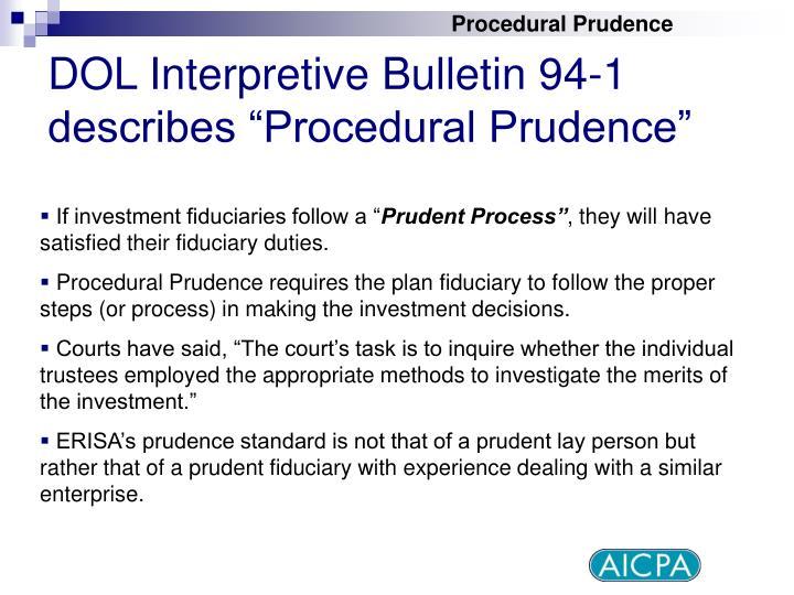 Procedural Prudence