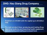 dhg hau giang drug company