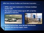 dpm petro vietnam fertilizer and chemicals corporation